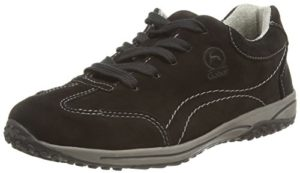 Gabor  Geno,  Damen Sneakers , Schwarz - Black (Black Nubuck) - Gr. 38 EU / 5 UK