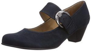Gabor Shoes 05.458_Gabor Damen Knöchelriemchen Pumps, Blau (16 nightblue), 41 EU