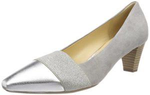 Gabor Shoes Damen Basic Pumps, Grau (Stone/Silber), 39 EU