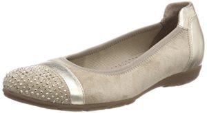 Gabor Shoes Damen Casual Geschlossene Ballerinas, Beige (Silk/Light Gold), 38.5 EU