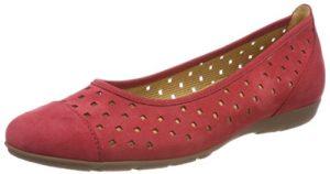 Gabor Shoes Damen Casual Geschlossene Ballerinas, (Rot), 40.5 EU