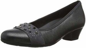 Gabor Shoes Damen Comfort Basic Pumps, Grau (Anthrazit (Deko) 13), 40.5 EU