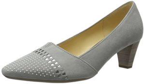 Gabor Shoes Damen Fashion Pumps, Grau (Stone/Silber 19), 38 EU