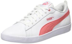 Puma Damen Smash Wns v2 L Sneaker, Weiß (Puma White-Shell Pink 05), 38 EU (5 UK)