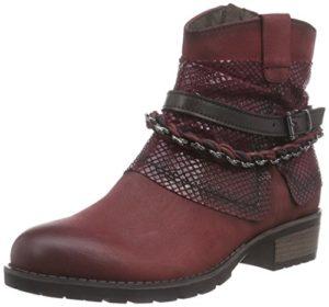Tamaris 25311, Damen Kurzschaft Stiefel, Rot (Bordeaux Comb 550), 38 EU (5 Damen UK)
