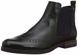 Tamaris Damen 25027-31 Chelsea Boots, Schwarz (Black Uni/Plum 53), 40 EU