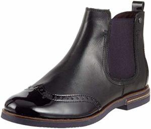 Tamaris Damen 25027-31 Chelsea Boots, Schwarz (Black/Plum 54), 39 EU