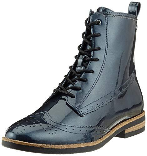 Tamaris Damen 25119-21 Combat Boots, Blau (Navy Patent 826), 39 EU