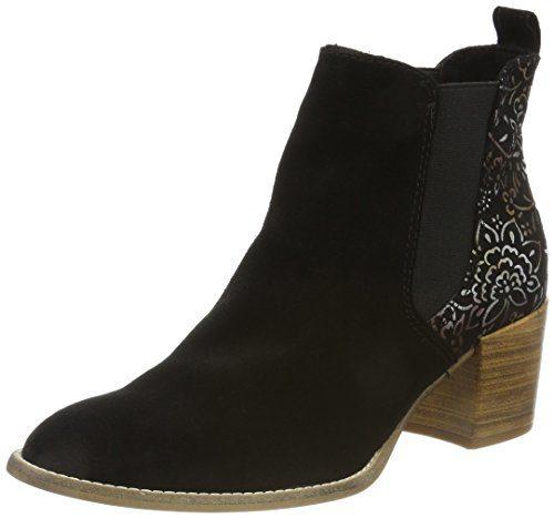 Tamaris Damen 25303 Chelsea Boots, schwarz, 39 EU