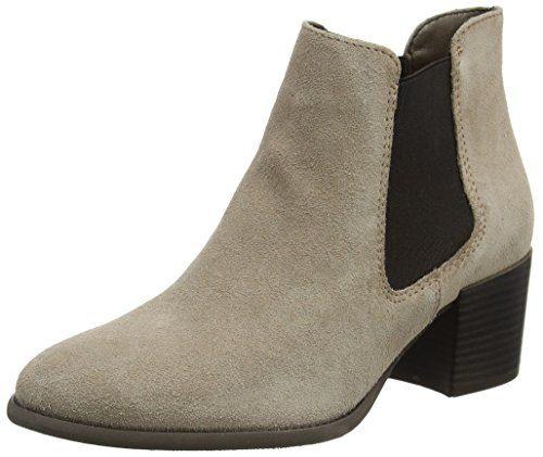 Tamaris Damen 25381 Chelsea Boots, Braun (Taupe), 40 EU