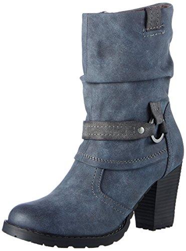 Tamaris Damen 25394 Stiefel, Blau (Navy/Anthrac), 38 EU