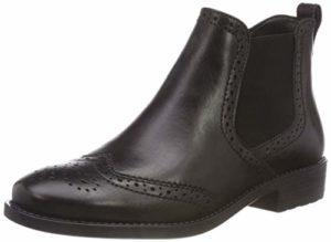 Tamaris Damen 25493-21 Chelsea Boots, Schwarz (Black Leather 3), 38 EU