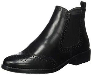 Tamaris Damen 25493 Chelsea Boots, Schwarz (Black Leather), 38 EU