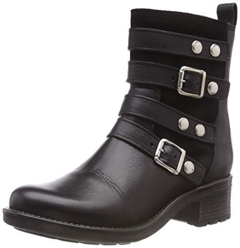 Tamaris Damen 25498-31 Biker Boots, Schwarz (Black 1), 36 EU