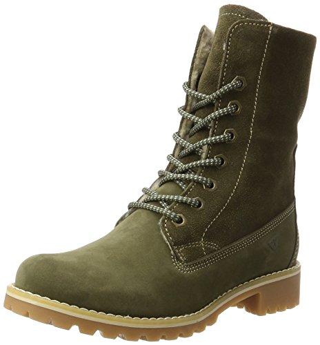 Tamaris Damen 26443 Combat Boots, Grün (Olive), 39 EU