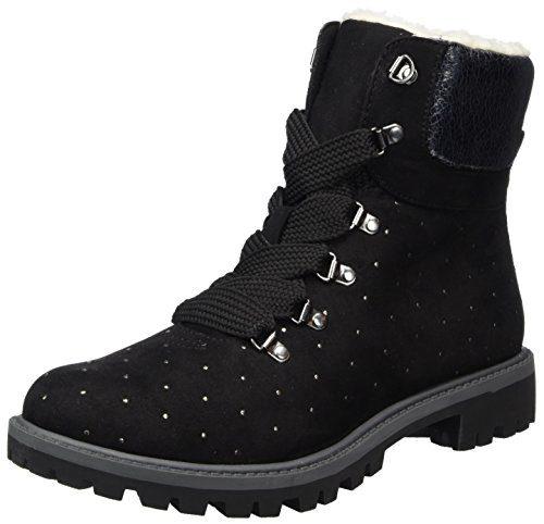 Tamaris Damen 26721 Combat Boots, Schwarz (Black), 39 EU