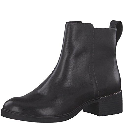 Tamaris Damen Chelsea Boots 25335-21,Frauen Stiefel,Halbstiefel,Stiefelette,Bootie,Reißverschluss,Blockabsatz 4cm,Black,EU 41