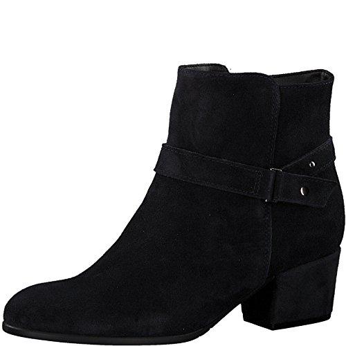 Tamaris Damen Stiefelette 25399-21,Frauen Stiefel,Boot,Halbstiefel,Damenstiefelette,Bootie,Reißverschluss,Trichterabsatz 5cm,Navy,EU 40