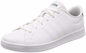 adidas Damen Advantage Clean QT Sneaker, Weiß Footwear White/Noble Green 0, 39 1/3 EU