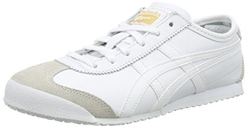 Onistuka Tiger Mexico 66 Unisex-Erwachsene Sneakers, Weiß (0101-10), 37.5 EU