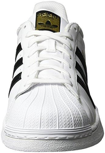 adidas Unisex-Erwachsene Superstar Low-Top, Weiß (Ftwr White/Core Black/Ftwr White), 46 EU