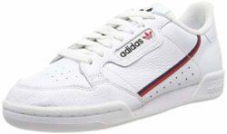 adidas Herren Continental 80 Fitnessschuhe, Weiß (Ftwbla/Escarl/Maruni 000), 43 1/3 EU