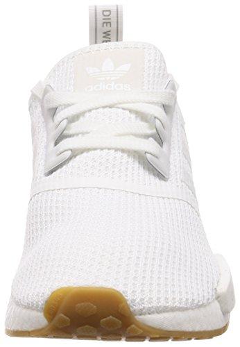 adidas Herren NMD_r1 Fitnessschuhe Weiß (Ftwbla/Gum 000) 42 2/3 EU