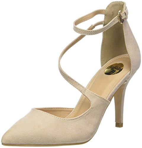 Buffalo Shoes Damen 315349 BHWMD IMI Suede Riemchensandalen, Beige (Nude 01 00), 37 EU