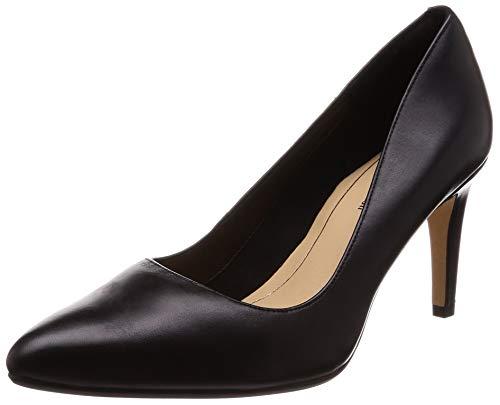 Clarks Damen Laina Rae Pumps, Schwarz (Black Leather), 42 EU
