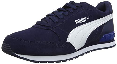 Puma Unisex-Erwachsene ST Runner v2 SD Sneaker, Peacoat White-Galaxy Blue, 43 EU