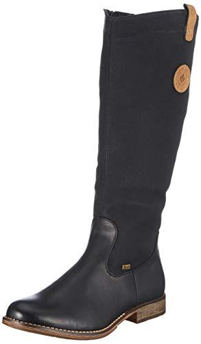 Rieker 97752 Damen Winterstiefel,Winter-Boots,Fellboots,Fellstiefel,gefüttert,warm,Reißverschluss,schwarz,42 EU