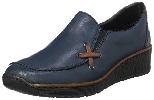 Rieker Damen 53783 Slipper, Blau (pazifik/brandy/pazifik), 39 EU