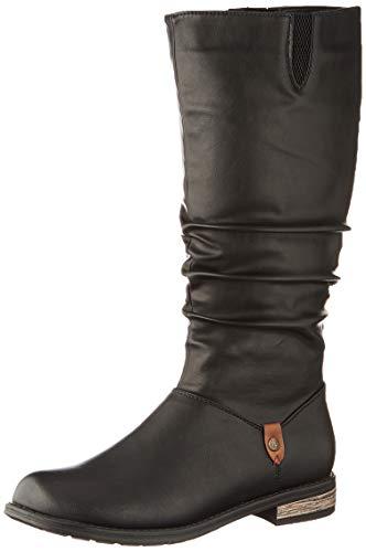 Rieker Damen 91191 Hohe Stiefel, Schwarz (schwarz/Brown 00), 38 EU