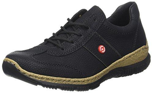 Rieker Damen N3220 Sneaker, Schwarz (Schwarz/fumo), 39 EU