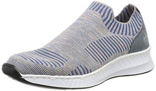 Rieker Damen N5678-91 Sneaker, Mehrfarbig (Blue-Rose/Adria 91), 41 EU