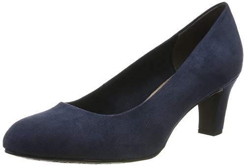 Tamaris Damen 1-1-22418-23 805 Pumps, Blau (NAVY 805), 39 EU