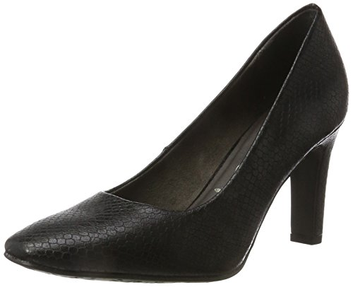 Tamaris Damen 22470 Pumps, Schwarz (Black Snake), 39 EU
