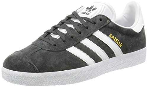 adidas Unisex-Erwachsene Gazelle BB5480 Low-Top, Grau (DGH Solid Grey/White/Gold Met.), 42 2/3 EU
